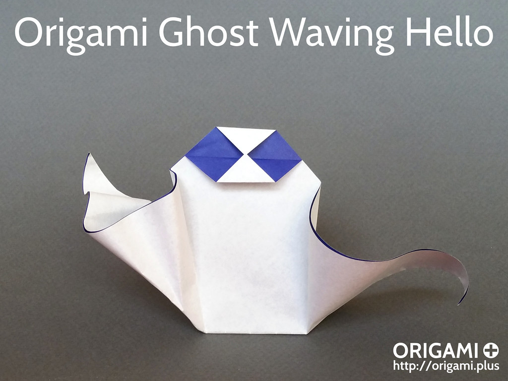 The worlds best photos of ghost and origami flickr hive mind origami ghost waving hello origamius tags origami ghost origamighost jeuxipadfo Choice Image