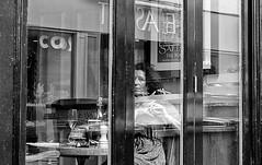 Just one look (phil anker) Tags: people street salisbury window cafe fujix70