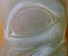 Smiling Sculpture (jasbond007) Tags: glasssculpture museumofnorthernbc princerupert britishcolumbia canada panasonic dmclx5 lx5 jasbond007 nigeldawson copyrightnigeldawson2017
