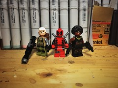 The Dynamic Threesome (LordAllo) Tags: lego deadpool 2 xmen x men cable domino wade wilson nathan summers neena thurman xforce force