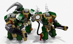 Terminator squad (Faber Mandragore) Tags: wip lego moc sci fi mecha warhammer 40k spacemarine chaos terminator salamander captain heavy assault berserker