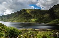 Over the Water (daedmike) Tags: scotland lochturret loch glen hills glenturret hillwalking water shadows clouds highland
