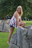 082117Denim_3799 (WindJammer Photo) Tags: august 2017 canon 2470mml 60d outdoor portrait denim shorts anklet platform heel highheel legs beauty beautiful gorgeous blonde wife smile