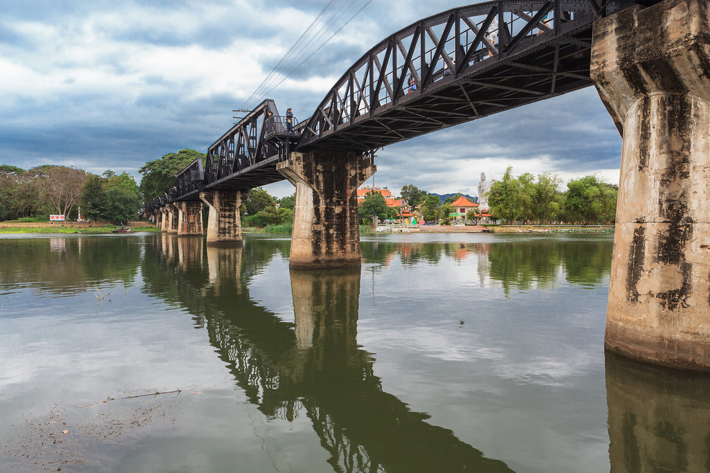 Famous bridge on the river kwai. Thailand