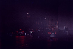 Grainy Reflections (zoltannagel) Tags: pentax k1000 smcm 50mm f 14 fuji hg 1600 color film c41 tetenal colortec developer reflecta proscan 7200 negative scan biberach an der riss night photography city lights cars high iso germany grain