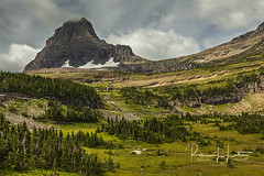 Highline Trail View of Clements Mountain, Glacier National Park, Montana (rebeccalatsonphotography) Tags: september autumn fall np glaciernationalpark nationalpark highlinetrail clementsmountain mountain clouds rebeccalatsonphotography montana loganpass gtts goingtothesunroad