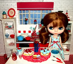 Red and blue kitchen  #8