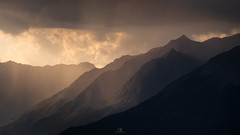 Ambre (DBPhotographe) Tags: mountain rain shower light cloud ray storm sunset trekking hikking outdoor yellow warm parpaillon col orres paca provence station resort embrun réallon alpes french france alps