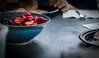 Breakfast (winhide) Tags: blueberries breakfast strawberries pickupsticks food found objects