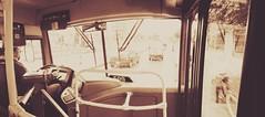 En el bus (josespektrumphotography) Tags: bus panoramica retro sepia josespektrumphotography colombia sitp bogota