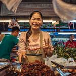 Blood vendor, Uwe Ta market, Chiang Mai thumbnail