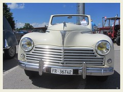 Peugeot 203 Convertible, 1955 (v8dub) Tags: peugeot 203 convertible 1955 cabrio cabriolet schweiz suisse switzerland fribourg freiburg french pkw voiture car worldcars wagen auto automobile automotive old oldtimer oldcar klassik classic collector