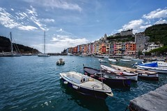 A Day in the Port (Nikonphotography D750) Tags: postcardsfromitaly postcards nikonphotography nikond750 nikon urlaub holidays ferien vacation onvacation italien italy reise journey triptoitaly europa europe visiteurope weitwinkel portovenere farben colors ligurien liguria wasser meer boats