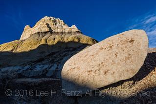 Fallen Caprock in the Bisti Badlands
