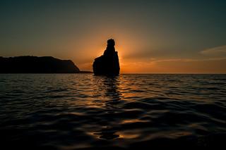 Queen Victoria sunset....