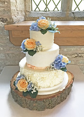 Sugarpaste Buttercream Wedding Cake