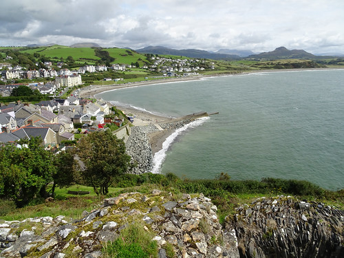 View east from Criccieth Castle