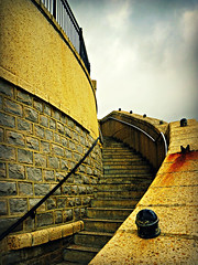 Taking steps...... (Jason 87030) Tags: ventnor island pavilion architecture railings rust light weather isleofwight inspiration stone stairs stairway heaven iow uk england