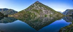 Somewhere Between Trollstigen And Aurlandsfjellet (wheelcorner) Tags: ngc mirror lake pano panorama outdoor norway norwegen norge trollstigen aurlandsfjellet canon 5d 5d2 5dmk2 24105 nature mountain mountains water samyang 14mm