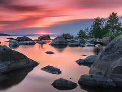 Solitary island (Teemu Kustila Photography) Tags: sunset koli nationalpark beautiful longexposure sunrise landscape scenery lake calm