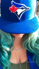 Blue Jays Girl (1DesertRose) Tags: baseball bluejays canadian canadianbaseball girl woman colorfulhair blue turquoise prettygirl prettywoman selfimage self selfie lips iphone 7