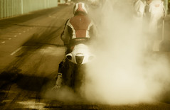 Burnout (snomanda) Tags: brighton speed trials burnout burn out motorcycle motorbike coast smoke haze rubber scorched track road motorsport bike bikes sport burnt