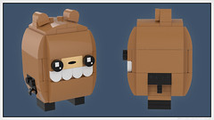 BrickHeadz: Beartato (Unijob Lindo) Tags: lego brickheadz nedroid reginald beartato brick headz heads leg godt klocki bricks digital render ldd designer mecabricks blender meca webcomic comic ned roid bird bear comics funny funko pop web slope slopes brickset contest brickheads tile tiles round profile side clip yellow blue brown square potato rendering