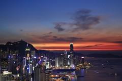 Hong Kong Island (superzookeeper) Tags: hk hongkong canoneos5dmarkiv ef2470mmf28liiusm 5dmk4 5dmkiv eos braemarhill sunset night longexposure skyline city harbor victoriaharbor lighttrail lights ifc sky instagramhill dusk internationalfinancecenter central cwb causewaybay wanchai