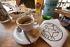 Espresso in France (VespertinePix) Tags: france french travel cafe espresso coffee con gas water sparkling pellegrino cookie pastry popcorn olive napkin fanta pop soda