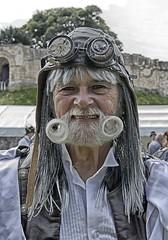 "Lincoln ""Asylum"" Steampunk Festival - 2017.08.26 (D.R.Williams) Tags: steampunk lincoln lincolnshire asylum moustache beard hat goggles"
