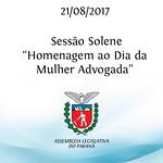Sessão Solene em homenagem ao Dia da Mulher Advogada