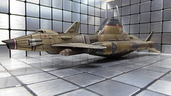 Skydiver in Dry Dock. (ManOfYorkshire) Tags: shado skydiver submarine vessel skydiver1 drydock maintenance repairs diorama scale diecast model productenterprise sky1 gwerryanderson tv series ufo inspired ufotvseries scifi sciencefiction 176 172 secret base