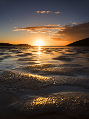 Cemaes Bay Sunset (Tracey Whitefoot) Tags: 2017 summer tracey whitefoot cemaes bay beach sand low tide gold golden tones light empty anglesey wales island west sunset dusk sandy welsh uk united kingdom