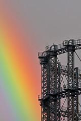 Regenbogen überm Schöneberger Gasometer (M. Schirmer Berlin) Tags: deutschland germany berlin schöneberg gasometer gerüst himmel gewitter unwetter regenbogen sky thunderstorm rainbow