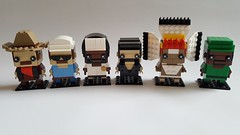 Lego Village people (fxandrw) Tags: lego brickheadz cowboy construction cop soldier indian ymca