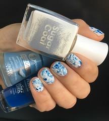 Sugar Fix - SH + Water Blue - Bourjois + Pantufas - Nati (carolinaguimaraes) Tags: esmaltes