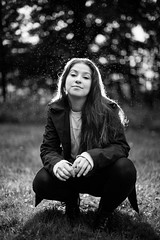 Shana 5 minute shoot (brendon_curtis) Tags: canon 5dmkiii 5d mkiii mk iii eos usm 50mm f12l portrait rain drops drop droplets water black white high contrast backlit backlight flash strobist