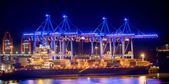 Blue Port mit Schiff (spityHH) Tags: a7ii abend blauestunde blueport bluehour elbe hamburg magichour sony cruisedays