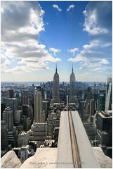Week of 9/11, USA (CvK Photography) Tags: autumn canon city cityscape color cvk empirestatebuilding fall holiday manhattan newyork newyorkcity reflection rockefellercenter rooftop usa verenigdestaten us