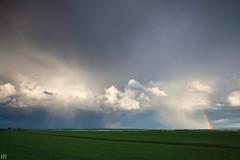 Jeux de Rideaux (NeoNature) Tags: canon france normandie calvados nature sky ciel convection meteorology météorologie celeste celestial rainbow arcenciel pluie rain sunray rayon soleil
