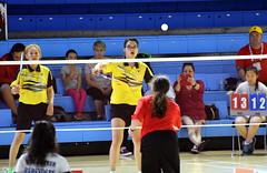 Finals at NAIG in Badminton (Star Otsisto Horn) Tags: badminton game naig women doubles sport net bird aboriginal