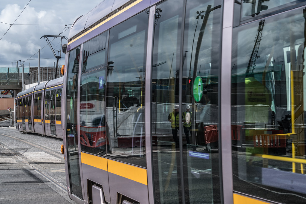 THE NEW LUAS TRAM STOP AT BROADSTONE [TESTING PHASE UNTIL EARLY DECEMBER]-1324705
