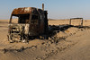 Driven the back roads* (Kyre Wood) Tags: burnt out truck crash off road desert kingdom saudi arabia lorry trailer rust abandoned