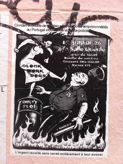 concert et bouffe soutien potes emprisonné(e)s portugal' la salle gueule