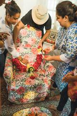 Garlanding Baba