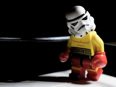 Storm-Boxer (RagingPhotography) Tags: lego star wars imperial galactic empire stormtrooper storm trooper boxer boxing ring fight mma fighting martial arts dark eerie ominous bright contrast ragingphotography