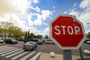 STOP (Charles.Fontaine) Tags: stop red sky parking daylife day cars work decathlon bron sign
