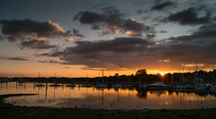 River Hamble Sunset (hutchyp) Tags: sunset sun set river hambleriverhamble swanwick marina hampshire water lowtide sky cloud goldenhour boats sony alpha a58