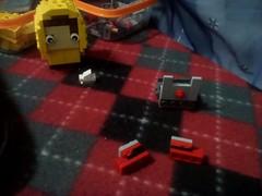 MOC: Inspired Pennywise and Georgie brickheadz (Mr Lego Customs) Tags: lego it pennywise brickheadz moc