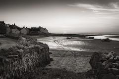 Saying goodnight.... (AJFpicturestore) Tags: sunset lastlight newportbay newport theparrog sea beach pembrokeshire wales monochrome blackwhite alanfoster